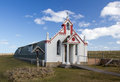 Nissen hut converted into an ornate church by italian prisoners of war during world war Stock Photography