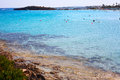 Nissi beach the most popular of ayia napa cyprus Royalty Free Stock Photos