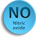Nitric oxide blue button with eps Royalty Free Stock Image