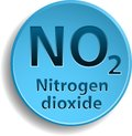 Nitrogen dioxide blue button with eps Royalty Free Stock Photography