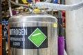 Nitrogen. Refrigerated liquid. Royalty Free Stock Photo