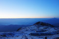 Niubei snow mountain in dawn Stock Photo