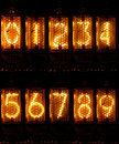 Nixie Numbers Royalty Free Stock Photo