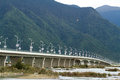 Niyanghe bridge the of nyingchi tibet china Stock Photo