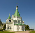 Nizhniy novgorod st michael archangel cathedral orthodox saint inside kremlin town fortress in russia Stock Photo