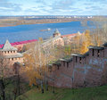 Nizhny novgorod kremlin view of Stock Photography