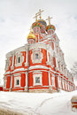 Nizhny novgorod rozhdestvenskaya church very beautiful ancient is in city nizhniy Royalty Free Stock Images