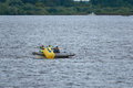 NIZHNY NOVGOROD, RUSSIA - JULY 24, 2017: Turning buoy Royalty Free Stock Photo
