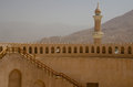 Nizwa castle minaret oman the restored castel fort at Stock Photography