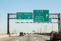 Nj turnpike i exit to i interstate in new jersey Stock Image