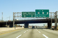 Nj turnpike i exit to new brunswick in new jersey Royalty Free Stock Photos