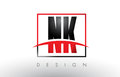 NK N K Logo Letters With Red A...