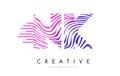 NK N K Zebra Lines Letter Logo...