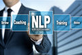 NLP touchscreen is operated by businessman