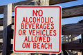 No Alcohol on Beach Royalty Free Stock Photo