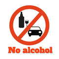 No alcohol icon on white Stock Image