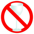 No alcohol permitted sign Royalty Free Stock Photography