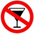 No alcohol sign Stock Photo