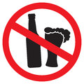 No alcohol sign symbol illustration Royalty Free Stock Photo