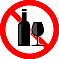 No alcohol vector illustration of icon Royalty Free Stock Photography