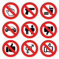 No allowed marks Royalty Free Stock Photos