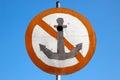 No Anchor sign Royalty Free Stock Photo