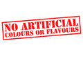 NO ARTIFICIAL COLOURS OF FLAVOURS Royalty Free Stock Photo