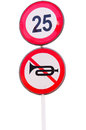 No audible and speed limit warning tooting isolated on white Royalty Free Stock Photography