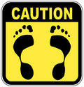 No bare feet sign Stock Photography