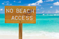 No beach access sign, horizontal Royalty Free Stock Images