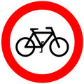 No bicycle sign Royalty Free Stock Image