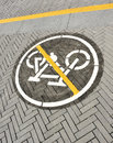 No bicycle this way Royalty Free Stock Photography