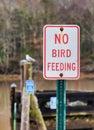 No Bird Feeding sign Royalty Free Stock Photo