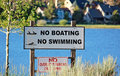 No Boating No Swimming Royalty Free Stock Images