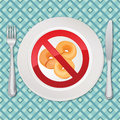 No bread gluten free icon illustration calories diet food stickers vector set Stock Image