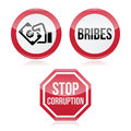 No bribes sto corruption red warning sign attention isolated on white do not bribe do not corrupt Royalty Free Stock Photo