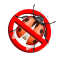 No bug prohibition sign on white background