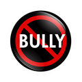 No Bully button Stock Image