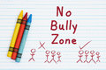 No bully message and graphic Royalty Free Stock Photo