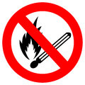 No campfire sign Stock Photos