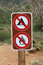 No camping no fires sign Royalty Free Stock Photo