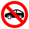 No car vector sign isolated on white Stock Photos