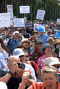 No Carbon Tax Rally Royalty Free Stock Photo