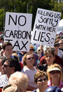 No Carbon Tax Rally Royalty Free Stock Photo
