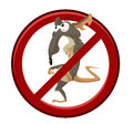 No cartoon rat vector image of sign with funny Royalty Free Stock Photo