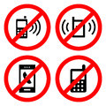 No Cell Phone Sign icon great for any use. Vector EPS10. Royalty Free Stock Photo