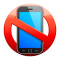 No cell phone sign. Royalty Free Stock Photo