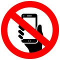 No cell phone vector sign Royalty Free Stock Photo
