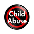 No Child Abuse button Stock Image