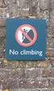 No Climbing Sign Royalty Free Stock Image